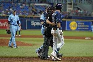 Blue Jays pitcher hits Rays'