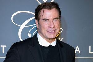 John Travolta celebrates