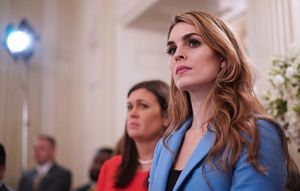Why did Hope Hicks resign?