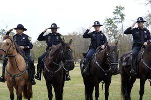 Texas Cops on Horseback Who