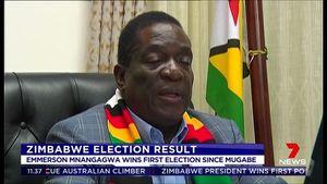 Mnangagwa wins Zimbabwe
