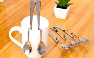 5-Piece Coffee Spoons Bent
