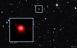 Two black holes are feasting