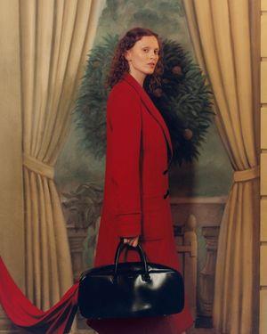 Karen Elson Wears All-Red