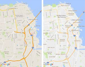 Google Maps Gets Cleaner Look