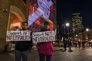 Net neutrality protestors hit