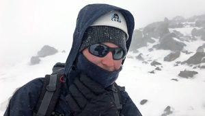 Blind British man climbs