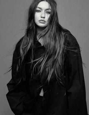 Gigi Hadid Poses in Black &