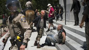 Clashes at white-supremacist