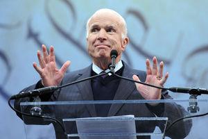McCain makes speech blasting
