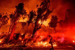Last remaining major wildfire