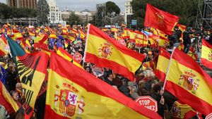 Spain Catalonia: Madrid mass