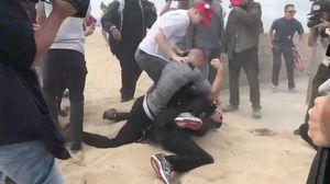 Violence erupts at pro-Trump