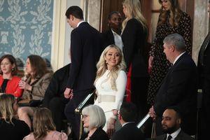 Tiffany Trump wears white, the