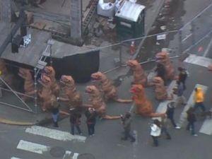 WATCH: 'T-Rex Stampede'