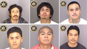 Six inmates escape California