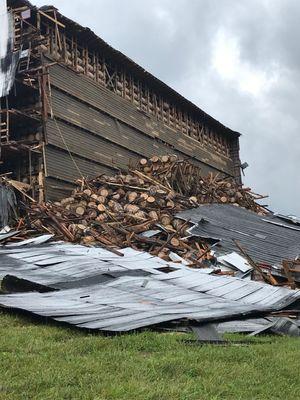 Thousands of bourbon barrels