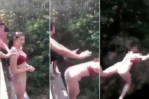 Teen shown in video pushing