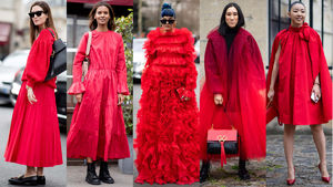 Red Outfits Stole the Street