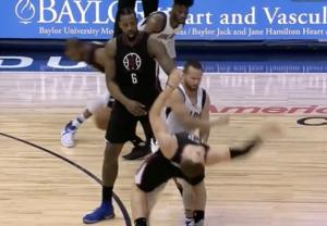 JJ Barea Throws Blake Griffin