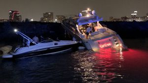 Two injured when 62-foot boat