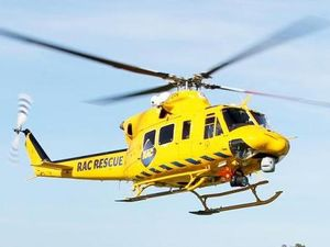 Woman, 18, airlifted to