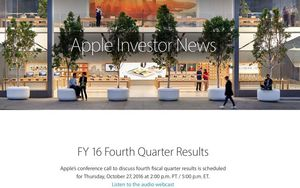 Apple to Announce Q4 2016