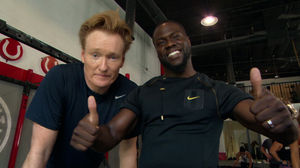 Conan Hits The Gym With Kevin