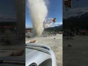 Dust devil destroys fruit