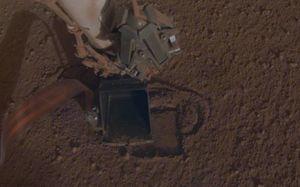 NASA InSight rover digs its