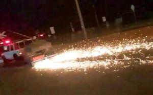 Man leads police on fiery