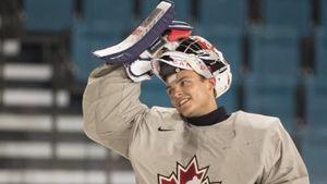 Canadian goalie Mike DiPietro