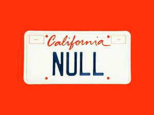 How a 'NULL' License Plate