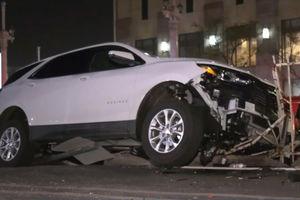 Driver mows down pedestrians