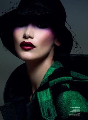Bella Hadid Models Bold Beauty