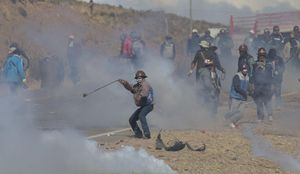 Striking Miners in Bolivia