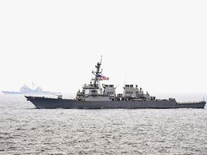 A US Navy Destroyer Collided