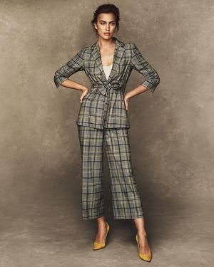 Irina Shayk Suits Up for Ellen