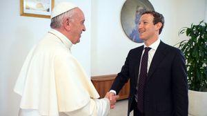 Mark Zuckerberg gives Pope
