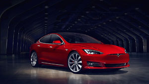 The Tesla Model S P100D has
