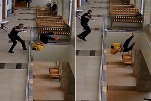 Handcuffed man tries to flee