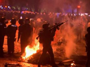 WATCH: Nighttime protests