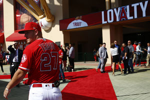 Mike Trout staying with the