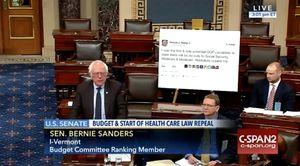 Bernie Sanders Brings Giant