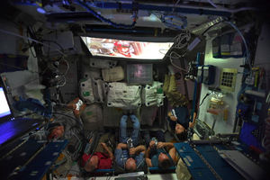 Astronauts watch 'Star Wars'