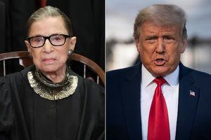 Trump questions Ruth Bader