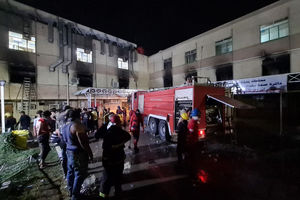 Fire tears through Baghdad