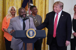 Trump hosts ex-convicts freed