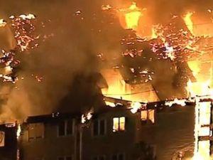 WATCH: Massive fire engulfs