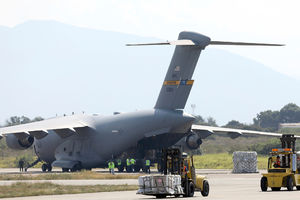 US delivers aid to town